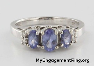 14 k gold tanzanite diamond engagement ring