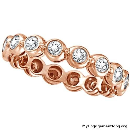 gold eternity engagement ring