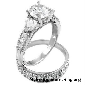 mens-womens silver engagement rings
